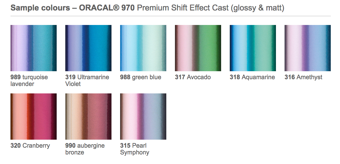 ORACAL 970 Premium Shift Effect Cast