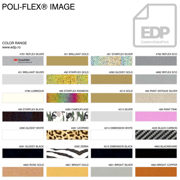 POLIFLEX FASHION CARBON SILVER 4221